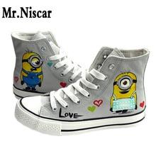 Despicable Me Graffiti Casual Shoes Men Cartoon Character Minions Valentine Couple Shoe Cute Minion Four Seasons Shoes