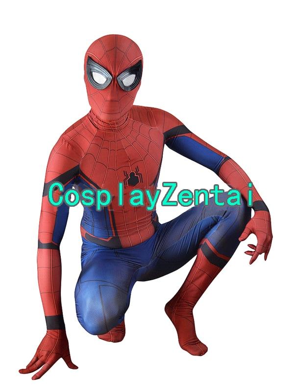 Spiderman Homecoming Spandex 3D Print Adult/Kids Cosplay Hallween Costume
