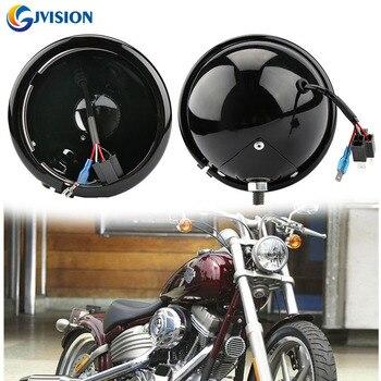 5 3/4 5.75 INCH LED Black Daymaker Headlight Housing for Harley Davidson Softail Dyna Motorcycle s1000rr turn led lights