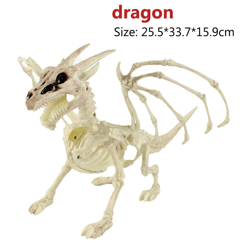 Halloween Decoration Bone Props Animals Skeleton Ornaments Bat Spider Dragon Bird Bones Hallowmas Horror House Party Decoration (86)