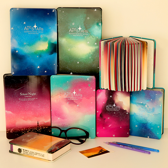 Creative Stationery Beautiful Color Page Notebook