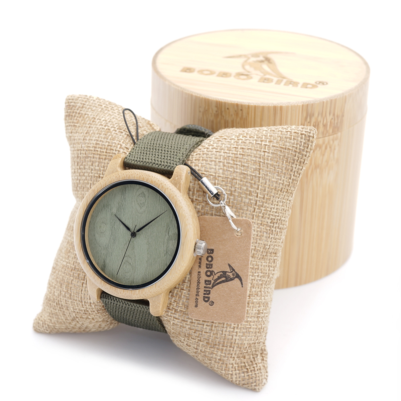 2017 BOBO BIRD Bamboo Watches for Men and Women Luxury Wristwatches Japan Movement 2035 Quartz Watch relogio feminino C-D12 japanese miyota 2035 movement wristwatches genuine leather bamboo wooden watches for men and women gifts relogio masculino
