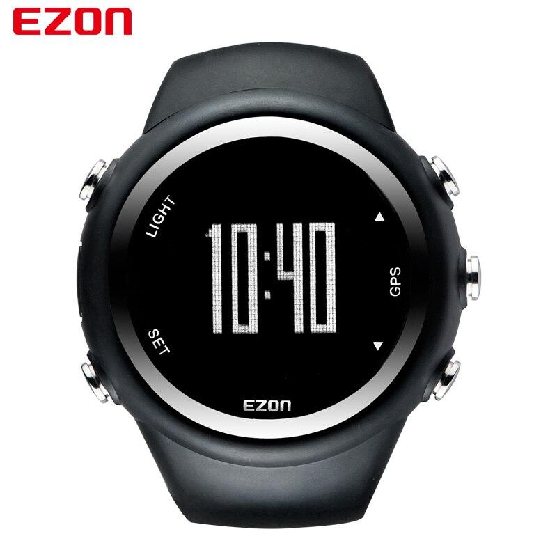 EZON marque meilleure vente GPS chronométrage Fitness montres Sport extérieur étanche numérique montre vitesse Distance compteur de calories T031