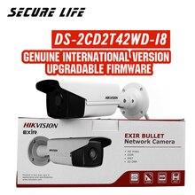 במלאי משלוח חינם DS 2CD2T42WD I8 אנגלית גרסה 4MP EXIR רשת Bullet אבטחת IP המצלמה POE, 80m IR, 120dB WDR, H.264 +