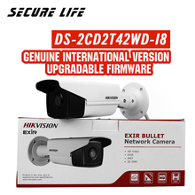 In stock Free shipping DS 2CD2T42WD I8 English version 4MP EXIR Network Bullet IP security Camera POE, 80m IR, 120dB WDR, H.264+