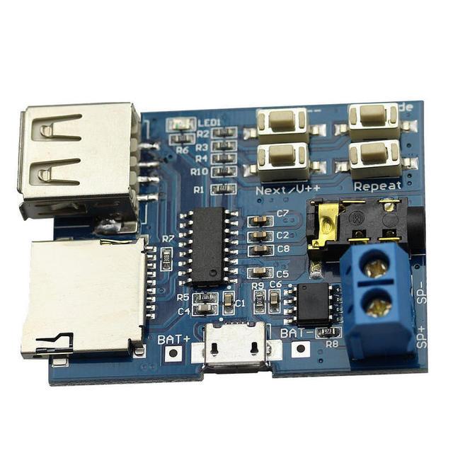 Onsale 1pc MP3 Format TF Card U Disk Decoder Board Built-in Amplifier Decoding Audio Player Mp3 Module Mayitr