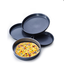 Black Nonstick Pizza Baking Pan Tray Mould Round Plate Dishes Holder Bakeware for Kitchen Tools Deep Pie Pans 6/7/8/9/10 inch