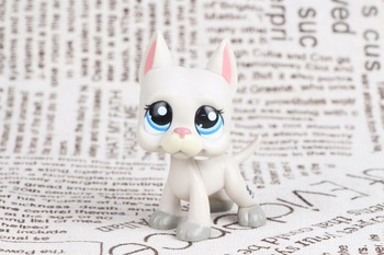 Новый pet Подлинная оригинальная LPS #1688 серый большой немецкий дог щенок голубые глаза Розовый нос Коллекция Рисунок Игрушки