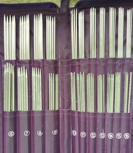 Image 3 - De doble punta un conjunto de 5 tejer agujas de ganchillo con gancho aguja Circular gancho costura herramienta para tejer 61155
