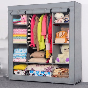 Wardrobe closet large simple cabinets simple folding reinforcement receive stowed clothes store.jpg 350x350