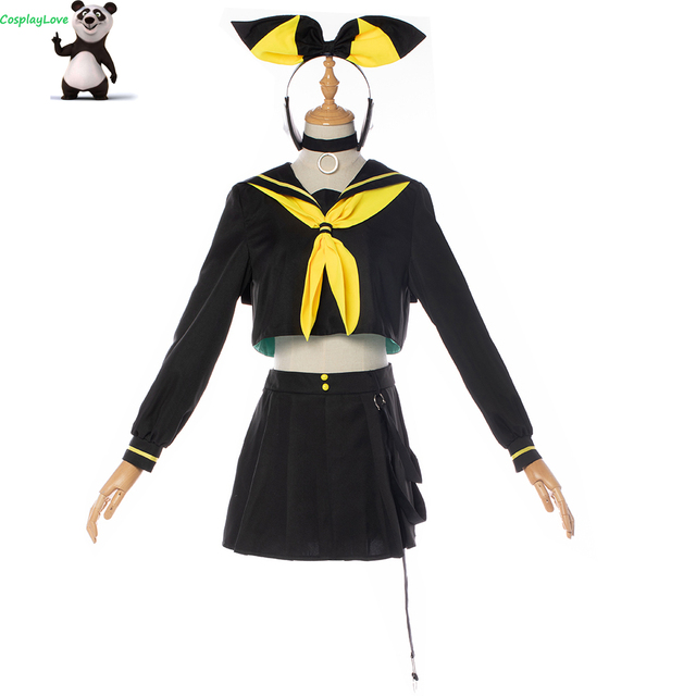 CosplayLove Vocaloid MAGIQUE MIRAI 10th Anniversaire Concerto Dal Vivo Vocale Kagamine Rin Cosplay Costume Per Le Ragazze Su ordine