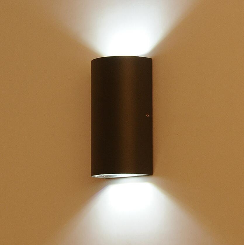 Bathroom Light Up Or Down 6w 10w cob outdoor led wall light double head ip65 garden light
