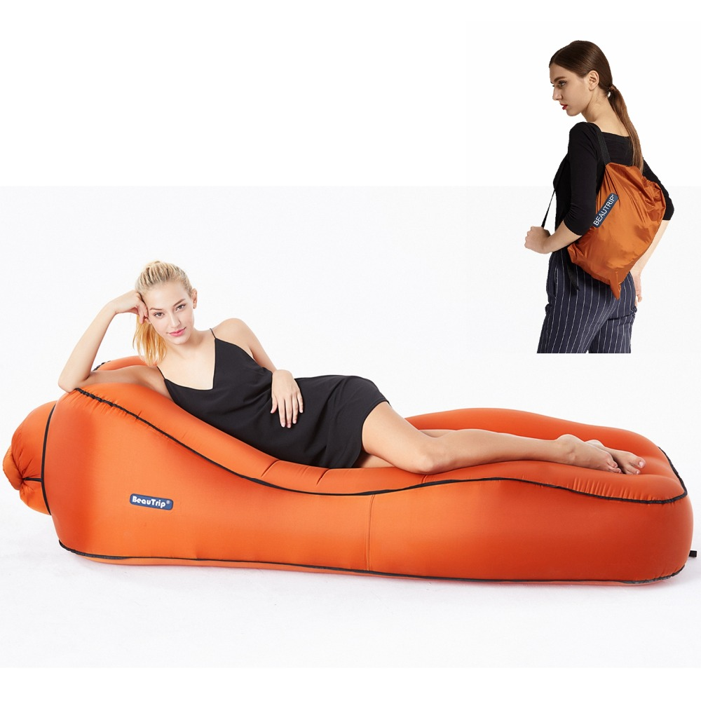BEAUTRIP Air Lounger Inflatable Lounge Sofa Bed Lazy Sleeping Beds Camping Beach Hangout Couch Waterproof Mattress Water Floats air max 95 white just do