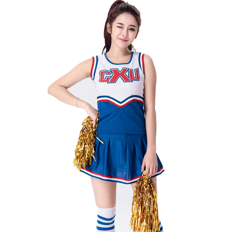 e3e6428c3 Woman s Sports and Cheerleading Costume Set For Girl French European Cup  Football Baby Clothes Lara Uniforms Students Suit S XXL-in Women s Sets  from ...