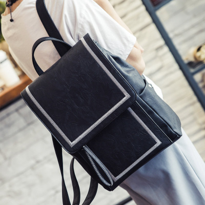Korean Fashion Pu Women Leather Backpacks School Bags Students Backpack Ladies Women s Travel Bags Leather