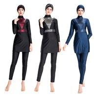 DROZENO Femme Muslim swimwear Plus TailleMaillot de Bain Musulman Maillot De Bain Islamique Nager Surfwear Sport Burkini S 4XL