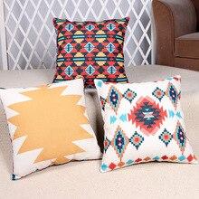 Hot Sale Pillow Covers Modern Pattern Design Home Textile Fashion Style 45X45CM Linen Pillow Cover Home Decorative cushion case