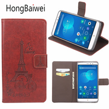 Cover For PPTV King 7 7S Case Flip Leather Printed Eiffel Tower Luxury Phone Bag Case for PPTV King 7 7S PP6000 Card Slot Wallet