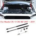 2 шт.  автомобильная амортизирующая стойка капота  амортизатор  Передняя опора капота двигателя  подъемник для Mazda CX-5  CX5  KF 2017  2018  2019