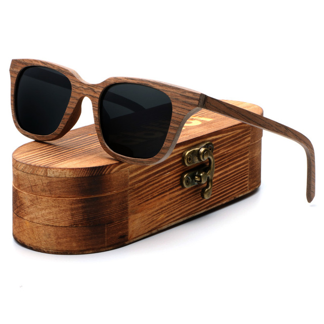 32fbce15fc Ablibi High Quality Vintage Square Walnut Wood Sunglasses Handcraft  Polarized Shades for Men Womens in Wood