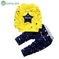 Весна Детская Одежда Set Star печати хип-хоп костюм детская одежда Полная Длина Хлопок Повседневная малышей мальчики одежда