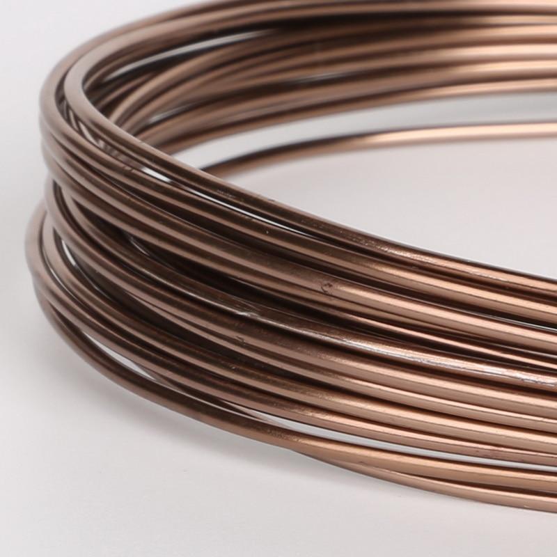 Мягкая коричневая алюминиевая проволока 1/1. 5/2/2. 5/5 мм бисерная проволока для браслета, ожерелья, ювелирное изделие, аксессуары для рукоделия