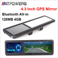 Rear view Mirror MTK GPS bulit in Blutooth AV-in,800Mhz, wince 6.0 navigaor support phone call,free shipping