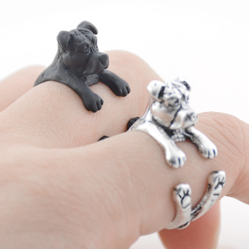Selfless Vintage Silver Black Bronze Boho Chic Welsh Corgi Dog Ring Animal English Dog Ring Hippie Brass Knuckles Rings Jewelry & Accessories