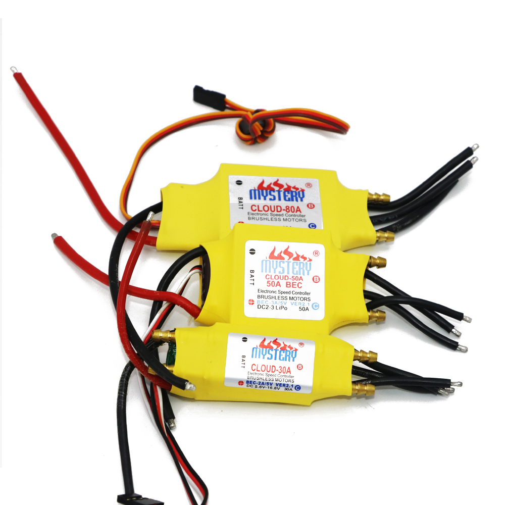 1pcs Mystery Cloud 2-7S 30A/50A/80A/100A/200A ESC 5V/3A 5V/5A UBEC  Brushless Speed Controller ESC For RC Boat