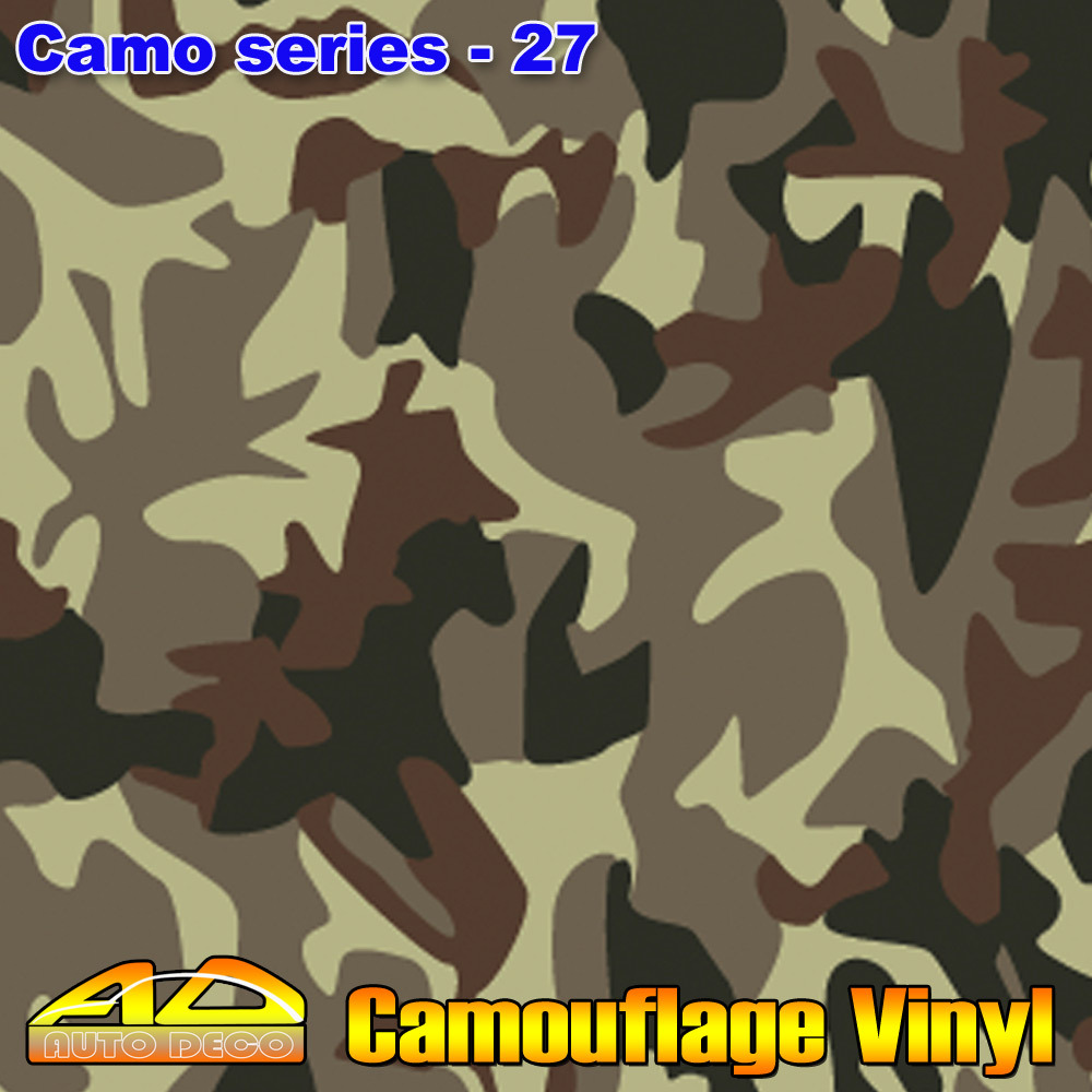 FedEx Free Shipping Camouflage Film For Cars Wrapping Vinyl Sitkcer With Air Bubble Free Sheet Foil size:1.50*30m/roll