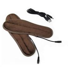 Моющиеся плюшевые меховые стельки с питанием от USB и электрическим питанием; зимняя теплая обувь для ног; теплые стельки для здоровья; Подушка с подогревом; унисекс