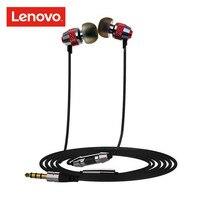Lenovo OVC наушники-вкладыши с микрофоном нейлоновая линия СТЕРЕО BASS металлический наушник для Xiaomi A2 Lite iPhone samsung Pocophone F1 Meizu
