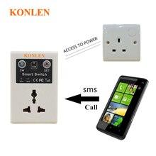 Gsm interruptor de tomada de energia baseado cartão sim sms chamada controle remoto para automação residencial inteligente konlen