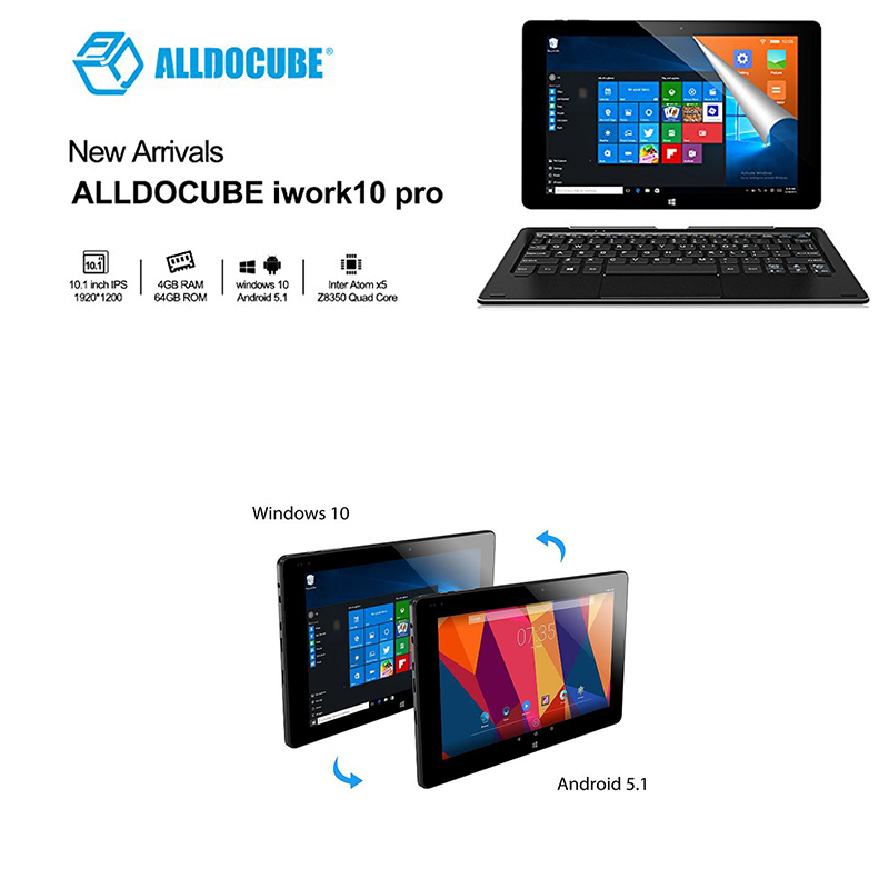 Detalles de ALLDOCUBE iWork 10 Pro Windows 10 + Android 5 1 Tablet Quad  Core 4GB Ram 64GB ROM- ver título original