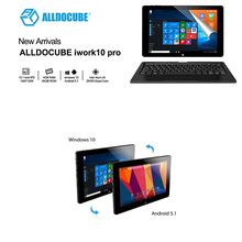 "10.1"" Tablets PC Alldocube iwork10 Pro Full View IPS 1920*1200 Windows10+Android5.1 Intel Atom x5-Z8350 4GB RAM 64GB ROM Tablet"