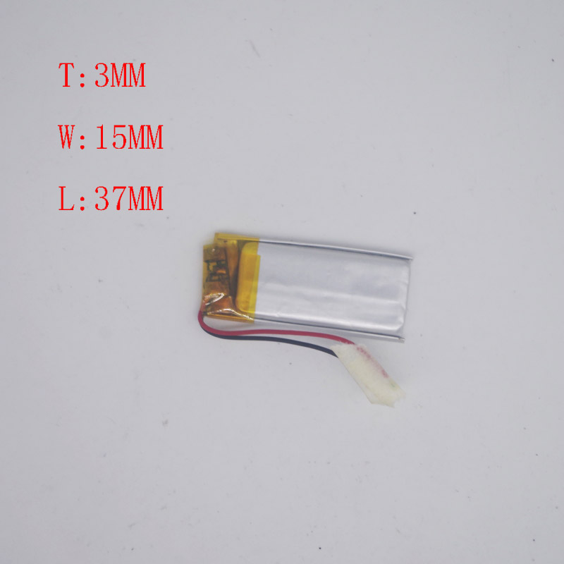 3.7 V Polymer Lithium Battery 301540 301537 Camera pen Recorder Pen Bluetooth Headphone Battery