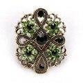 Baiduqiandu antiguo chapado en oro de Color de diamantes de imitación de cristal Diamante Vintage broche de La Flor pines para las mujeres en diseños variados