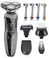 Wet & dry 6 en 1 hombres Razor máquina de Afeitar Eléctrica Para Los Hombres Máquina de Afeitar Recargable Barba Impermeable de alta calidad