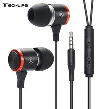 DUSZAKE auriculares de graves S2 para Xiaomi, auriculares internos deportivos con cable para teléfono, Samsung