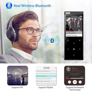 Image 4 - MP4 Player with Bluetooth Lossless Hi Fi Sound MP4 Music Players Touch Button Built in Loud Speaker with FM + Free Gift Lanyard