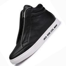 Модные мужские ботинки с высоким берцем Повседневная ранней зимы Белый Осень брендовые ботинки из мягкой кожи на шнуровке черный Мужская обувь мужская обувь bota