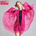 2017 Spring  Solid 100% Silk Shawls Women Luxury Solid Soft Scarf Scarves Brand Large Foulard Femme Bandana Wraps Female Pareo