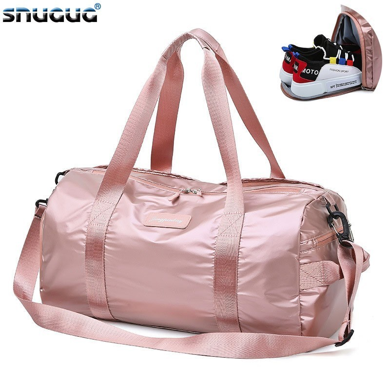 SNUGUG Outdoor Big Fitness Bag 2019 Nylon Sport Gym Bag Women For Shoe Travel Sports Bag Ladies New Shoulder Training Yoga Bags