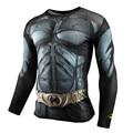 New 2016 Men Crossfit Long Sleeve Compression Shirt Marvel 3D Superhero Superman T Shirt Tights Fitness Mens Tops & Tees