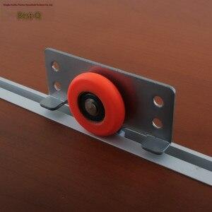 Image 2 - משלוח חינם גלגלת דלת דלת דלת ריהוט ארון בגדים ארונות להחליק נושא הזזה דלת הזזה אביזרים עם הי מתכוונן