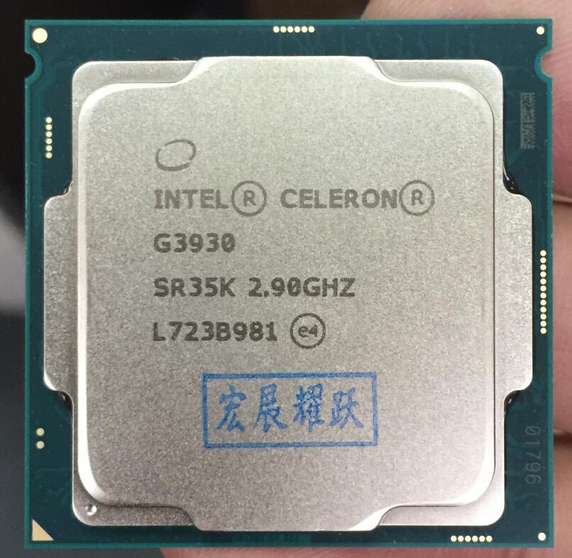 Процессор Intel Celeron G3930 Процессор LGA1151 14нанометров Dual-Core 100% рабочий компьютер должным образом настольный процессор