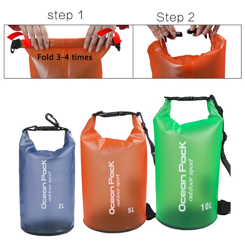 2L 5L 10L Camping Waterproof PVC Swimming Bag Bucket Dry Sack Storage Bag River trekking Rafting drifting Kayaking Travel Water 20l 30l river trekking bags waterproof surfing swimming storage dry sack bag pvc pouch boating kayaking canoeing floating