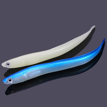 3 шт./пакет 14 см/6,3 г рыболовные приманки мягкие приманки небольшой eelsuper Live яркие Ricefield Угри Лоуч искусственные приманки синий светящийся/белый