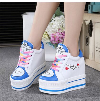 Spring New Platform Thick Soles Higher Cheap Running Shoes Female Color Matching Women Running
