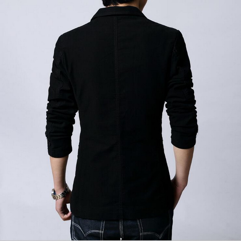 Image 5 - 2019 New Men's Casual Blazers Leisure Suit MEN Slim Fitted Male Blazers Single Breasted men coat Terno Masculino Plus Size-in Blazers from Men's Clothing